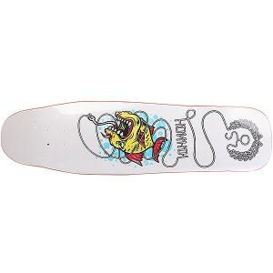 Дека для скейтборда лонгборда  Fish White 9 x 33 (84 см) Юнион. Цвет: белый,мультиколор