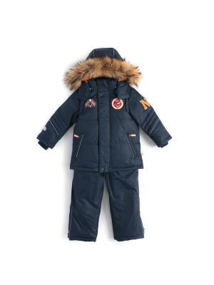 Комплект (куртка, полукомбинезон) NELS. Цвет: темно-серый