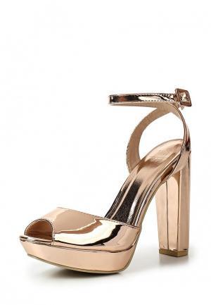 Босоножки WS Shoes. Цвет: золотой