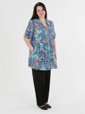 Блузка-туника женская БаяНа. Цвет: голубой