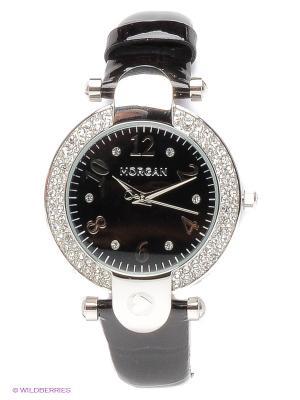 Часы Morgan. Цвет: черный, серебристый
