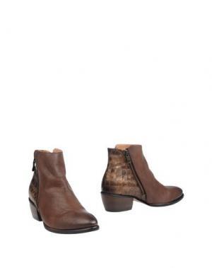 Полусапоги и высокие ботинки KANNA. Цвет: темно-коричневый