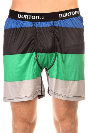 Термобелье (низ)  Mb Ltw Boxer 2 Pack Turf Pop Stripe/True Black Burton. Цвет: черный,серый,зеленый,синий