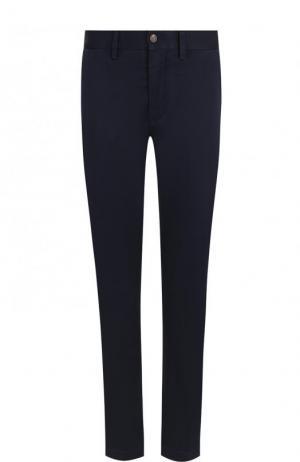 Укороченные однотонные брюки из хлопка Polo Ralph Lauren. Цвет: синий