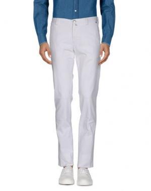 Повседневные брюки ERA. Цвет: белый