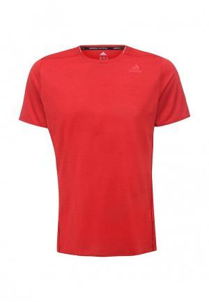 Футболка спортивная adidas Performance. Цвет: красный
