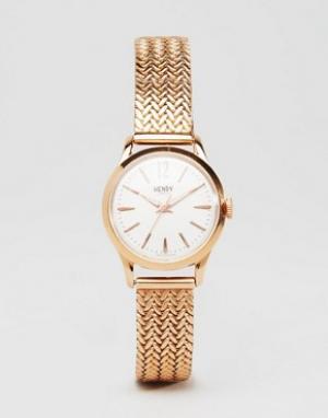 Henry London Часы цвета розового золота HL25-M-0022 Richmond. Цвет: золотой