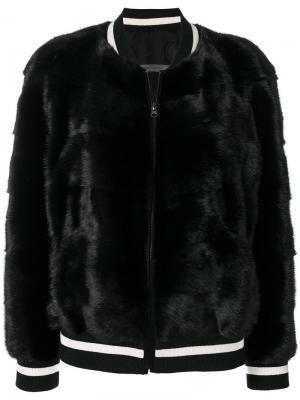 Куртка-бомбер Simonetta Ravizza. Цвет: чёрный