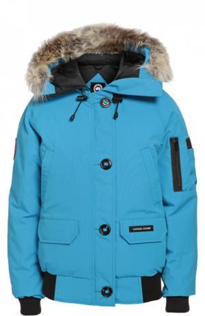 Куртка Canada Goose. Цвет: голубой