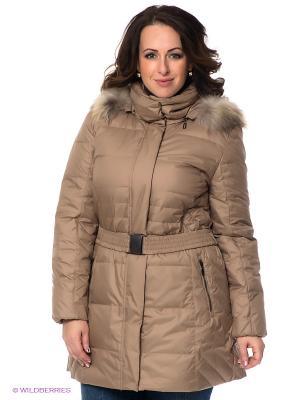 Пальто WEGA. Цвет: светло-коричневый