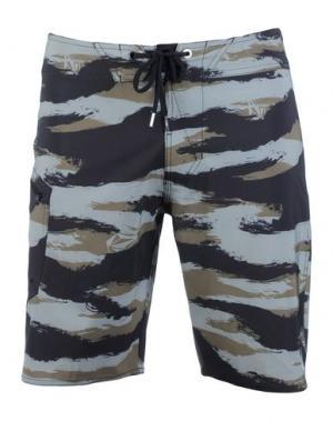 Пляжные брюки и шорты VOLCOM. Цвет: зеленый-милитари