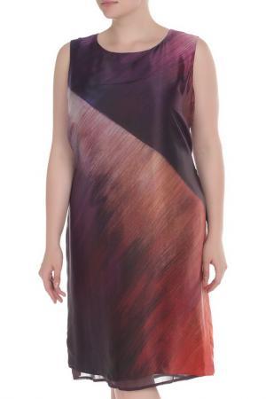 Платье Elena Miro. Цвет: фиолетовый, оранжевый, принт