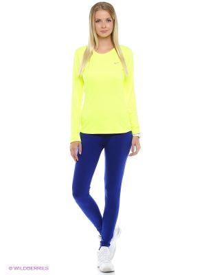 Леггинсы W NSW PANT CF JRSY Nike. Цвет: синий