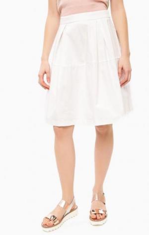 Пышная белая юбка THINK CHIC. Цвет: белый