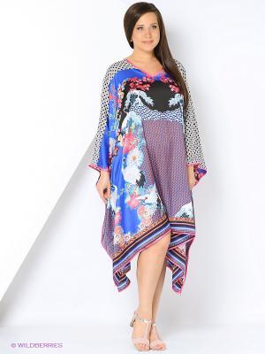Платье - туника LIZA MACCONY. Цвет: лазурный