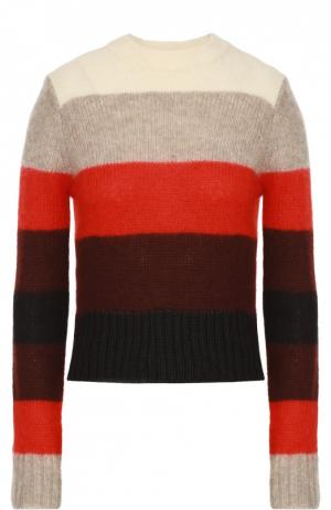 Укороченный пуловер в контрастную полоску Rag&Bone. Цвет: бежевый
