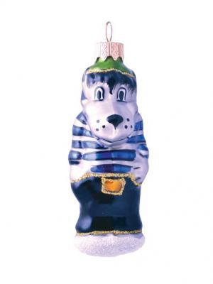 Ёлочное украшение Волк в тельняшке h- 11см Карнавал-Премьер. Цвет: прозрачный