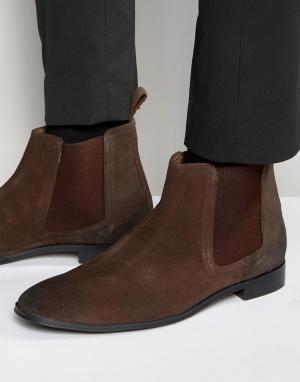 Dead Vintage Коричневые замшевые ботинки челси. Цвет: коричневый