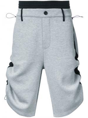Спортивные шорты с лампасами Public School. Цвет: серый