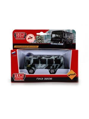 Автобус Технопарк металлический, инерционный ПАЗ. ОМОН.. Цвет: серый,черный