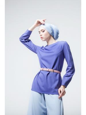 Блуза прямая фиолетовая Bella kareema. Цвет: фиолетовый