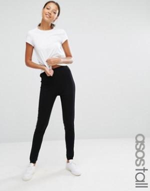 ASOS Tall Трикотажные брюки-галифе. Цвет: черный