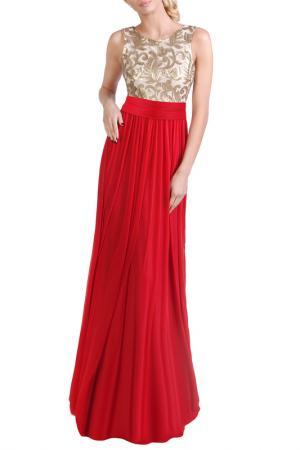 Платье JUNONA. Цвет: red, gold
