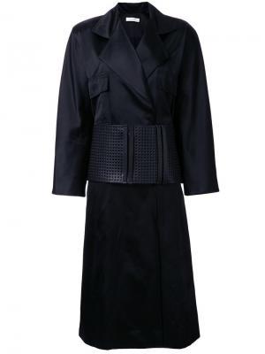 Двубортное пальто JW Anderson. Цвет: чёрный