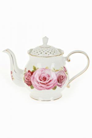 Чайник заварочный, 1200 мл Best Home Porcelain. Цвет: белый, розовый