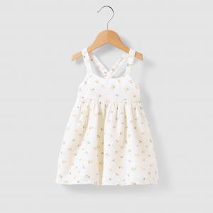 Платье с цветочным рисунком, 1 мес. - 3 года R mini. Цвет: розово-бежевый