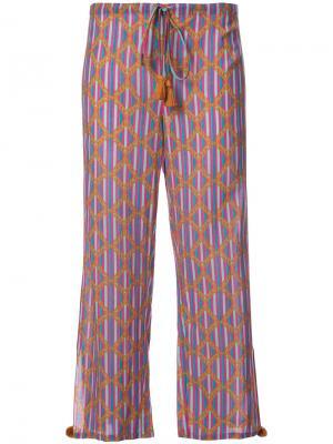 Укороченные брюки Goa Figue. Цвет: розовый и фиолетовый