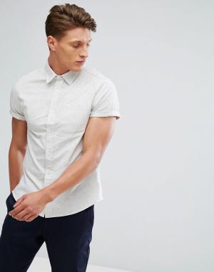 Burton Menswear Узкая оксфордская рубашка бежевого цвета. Цвет: бежевый