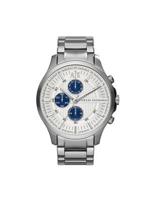 Часы Armani Exchange. Цвет: белый, синий, серебристый