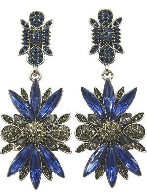 Серьги Taya. Цвет: темно-синий