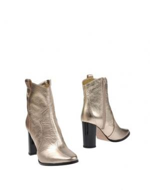 Полусапоги и высокие ботинки PREZIOSO. Цвет: платиновый
