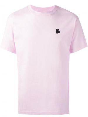 Tear Drop T-shirt Obey. Цвет: розовый и фиолетовый