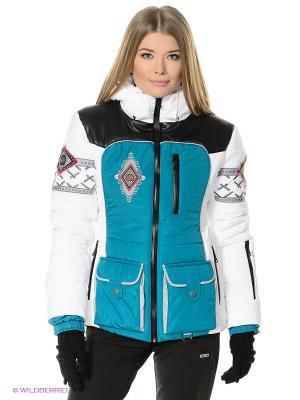 Куртка Sport Vision. Цвет: белый, морская волна
