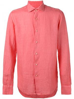 Рубашка кроя слим Xacus. Цвет: розовый и фиолетовый