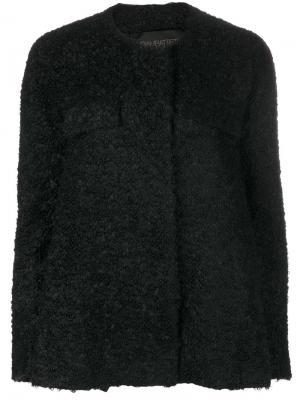 Короткое пальто букле Giambattista Valli. Цвет: чёрный