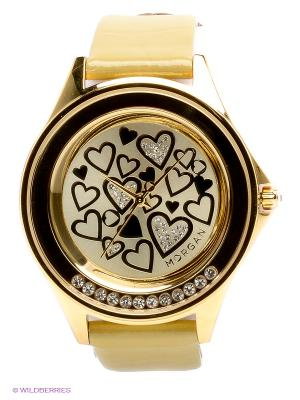 Часы Morgan. Цвет: кремовый, золотистый