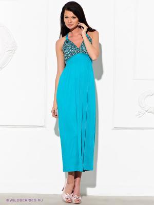 Платье GILLI. Цвет: бирюзовый (осн.)