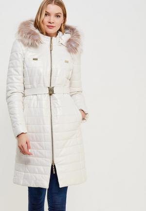 Куртка утепленная Grafinia. Цвет: белый