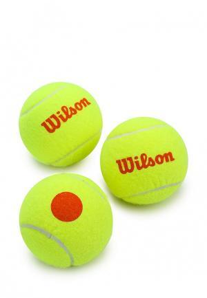 Комплект теннисных мячей 3 шт. Wilson. Цвет: желтый