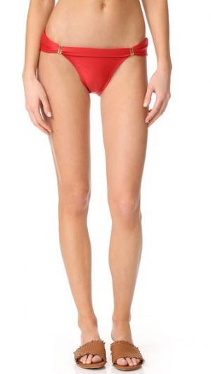 Однотонные плавки Bia Full ViX Swimwear. Цвет: красный