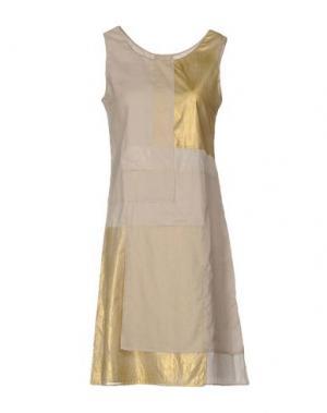 Платье до колена CIVIDINI. Цвет: песочный