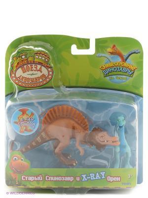 Поезд Динозавров, игровой набор 1Toy. Цвет: оранжевый