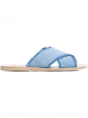 Джинсовые открытые сандалии Ancient Greek Sandals. Цвет: телесный