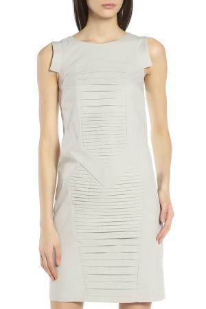 Повседневное платье без рукавов Oblique. Цвет: светлый-серый