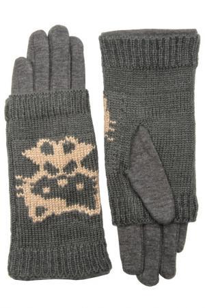 Перчатки Stella. Цвет: серый