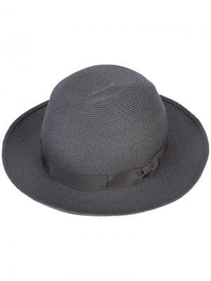 Paper braided hat Kijima Takayuki. Цвет: серый